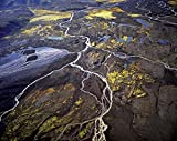 Iceland - High angle view of volcanic rocks on a landscape 30x40 photo reprint