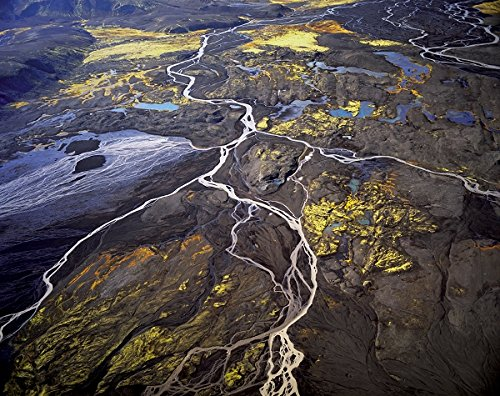 Iceland - High angle view of volcanic rocks on a landscape 30x40 photo reprint by PickYourImage