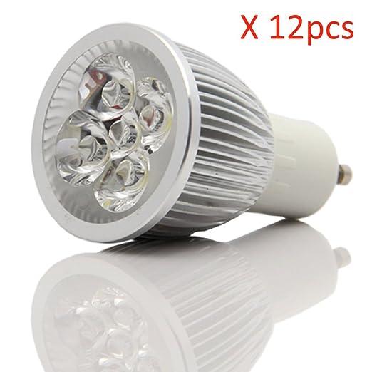 12 piezas x Ossun 6 W regulable bombilla luz LED Super brillante bombilla LED de bajo