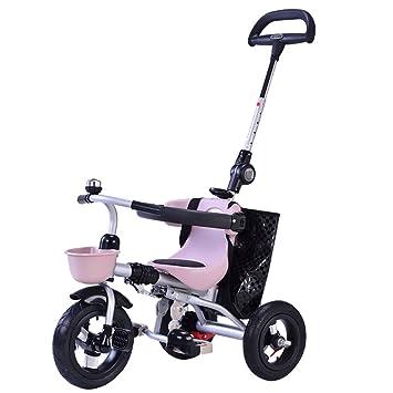 Cochecito de bebé triciclo infantil, bicicleta plegable para niños bicicleta para bebés niños y niñas