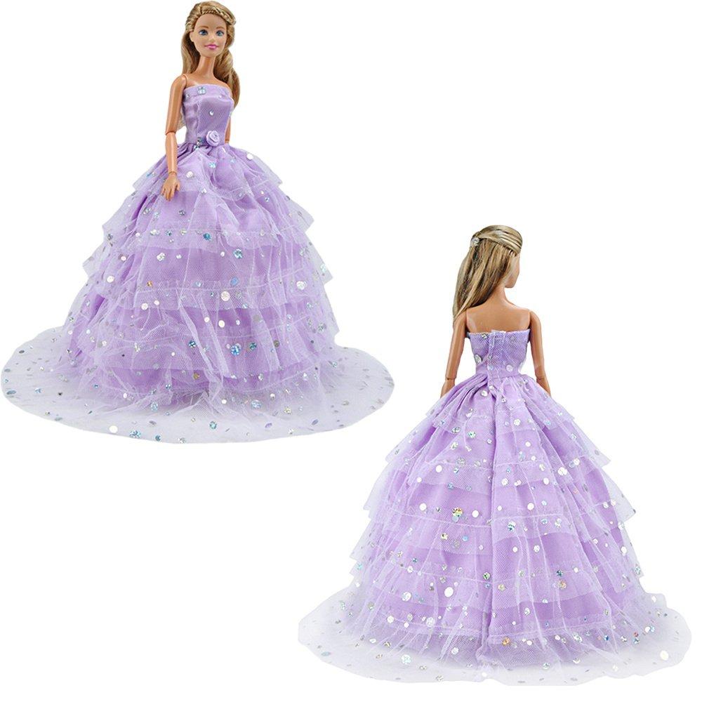 Amazon.es: E-TING princesa vestido de Novia de encaje Floral vestido ...
