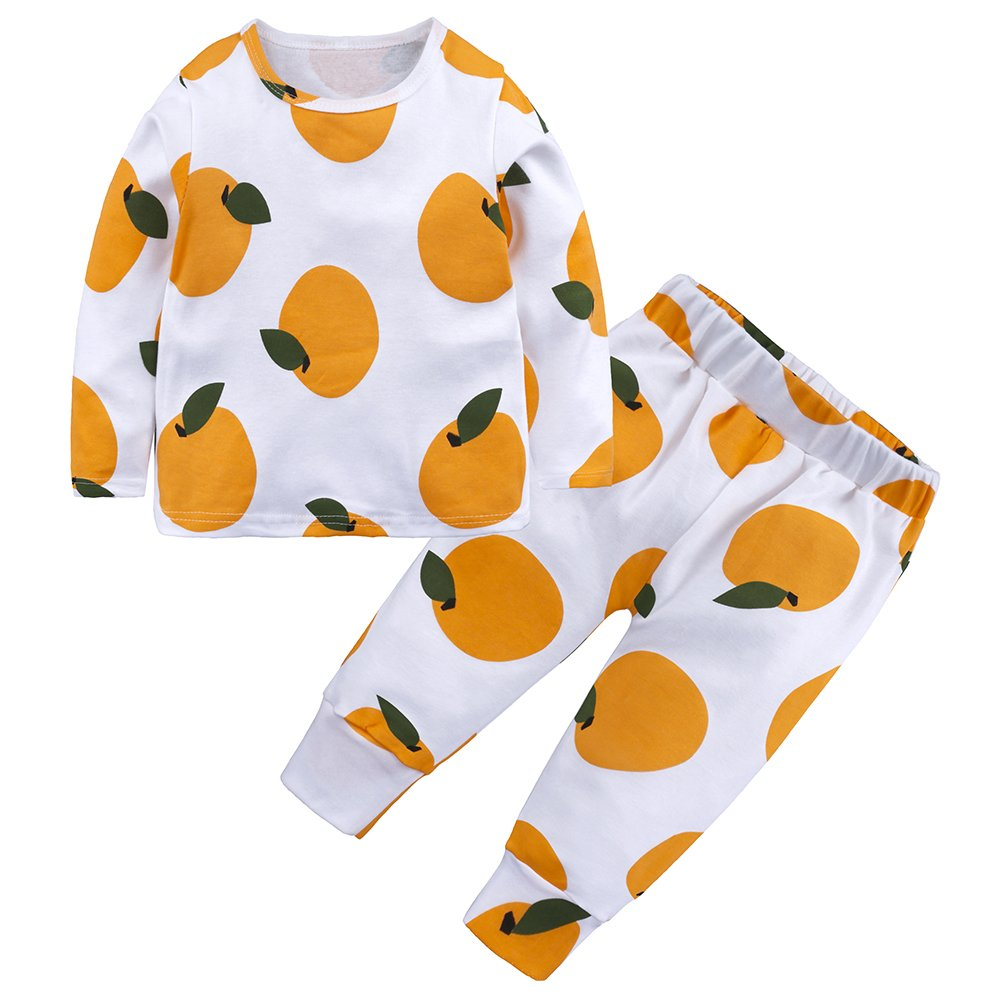 Little Boys Girls' Cotton Pajamas Cartoon Kids Sleepwear Pants Set Mary ye