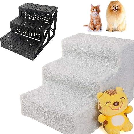 Amazon.com: Escalera blanca para mascotas de 3 peldaños ...