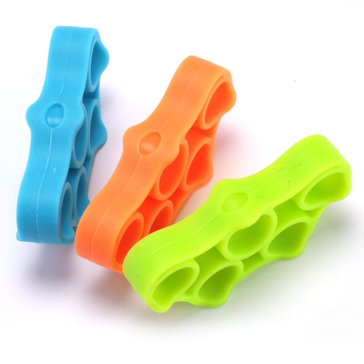 6pcs//Pack Flexible Silicone Elastic Hand Gripper Forearm Wrist Training Finger Stretcher Resistance Band Fingers Trainer