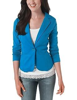 Damen Blazer Herbst Elegant Mode Langarm Revers Pro Kurz Cute Chic Jacke  Casual Candy Colors Unikat 0aaa99d5cf