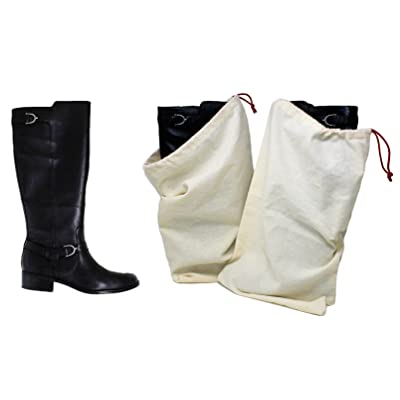 Earthwise Boot Shoe Bag 100% Cotton MADE IN THE USA with Drawstring for storing and protecting boots ( Pack of 2 )