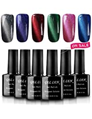 Gellen 3D Cat Eye UV LED Gel Nail Polish Kit 10ml 6...
