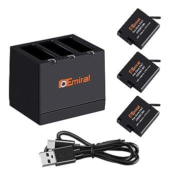 Amazon.com: Batería de cámara y cargador USB de 2 canales ...