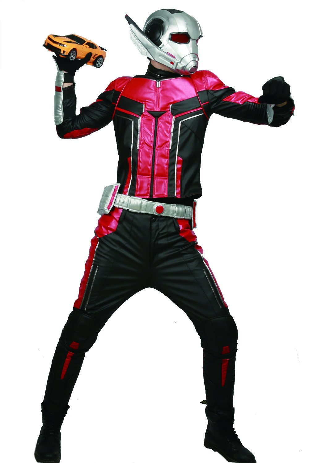 xcoser Ant Man Costume with Helmet Deluxe PU Cosplay Outfit Belt Gloves Full Suit Halloween Custom Made by xcoser (Image #7)