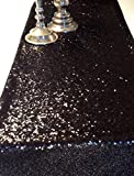 ShinyBeauty Sparkly Black Sequin Table Runner For Wedding/Events Decoration 30*180cm( Can Choose Your Color) (Black Color )