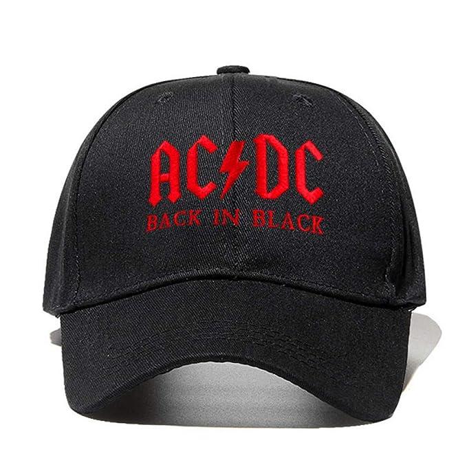 Yooci Gorras De Hombre AC/DC Gorra De Béisbol Rock Hip Hop Cap ...