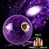 Ruien Marble Style Round Ball Gear Shift Knob Purple with 3 Adapters M8×1.25 M10×1.25 M10×1.5