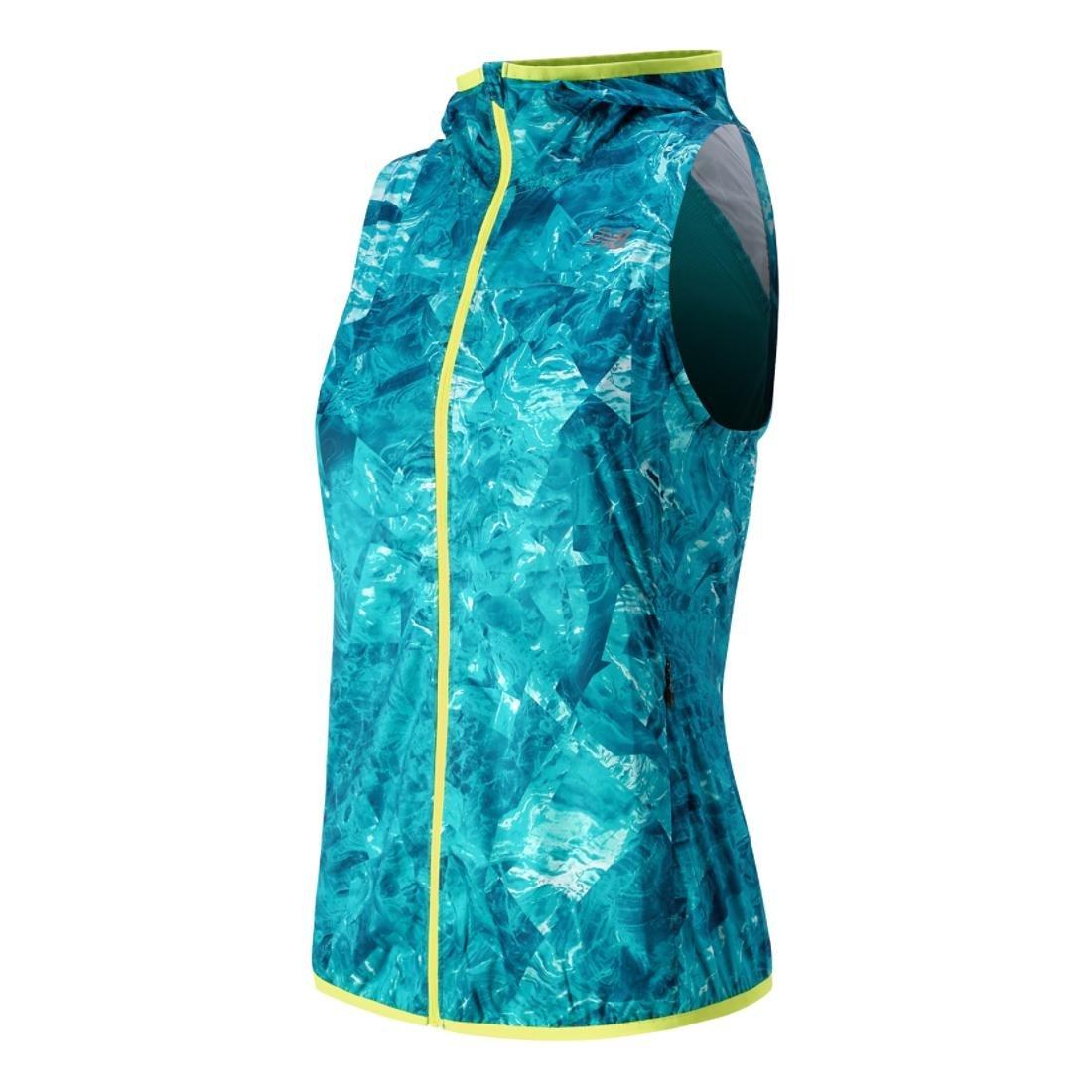 New Balance Women's Windcheater Vest, Sea Glass Print, Small