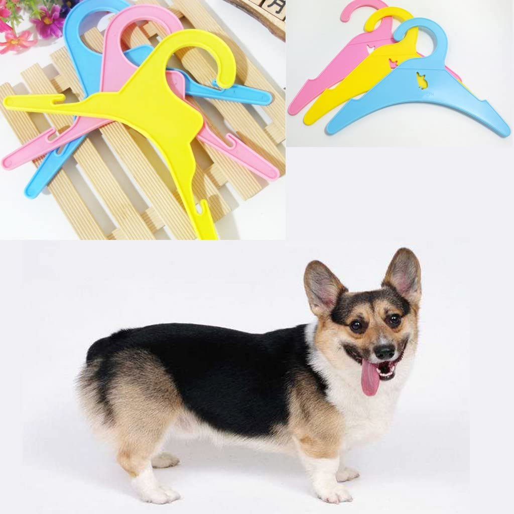 MagiDeal 10xSmall Plastic Clothes Hangers for Pet Dog Puppy Cat Clothing Garment 19cm
