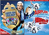 Leslie Nielson 5-Movie Comedy Collection - Naked Gun Trilogy & Airplane Double Feature 5-DVD Bundle