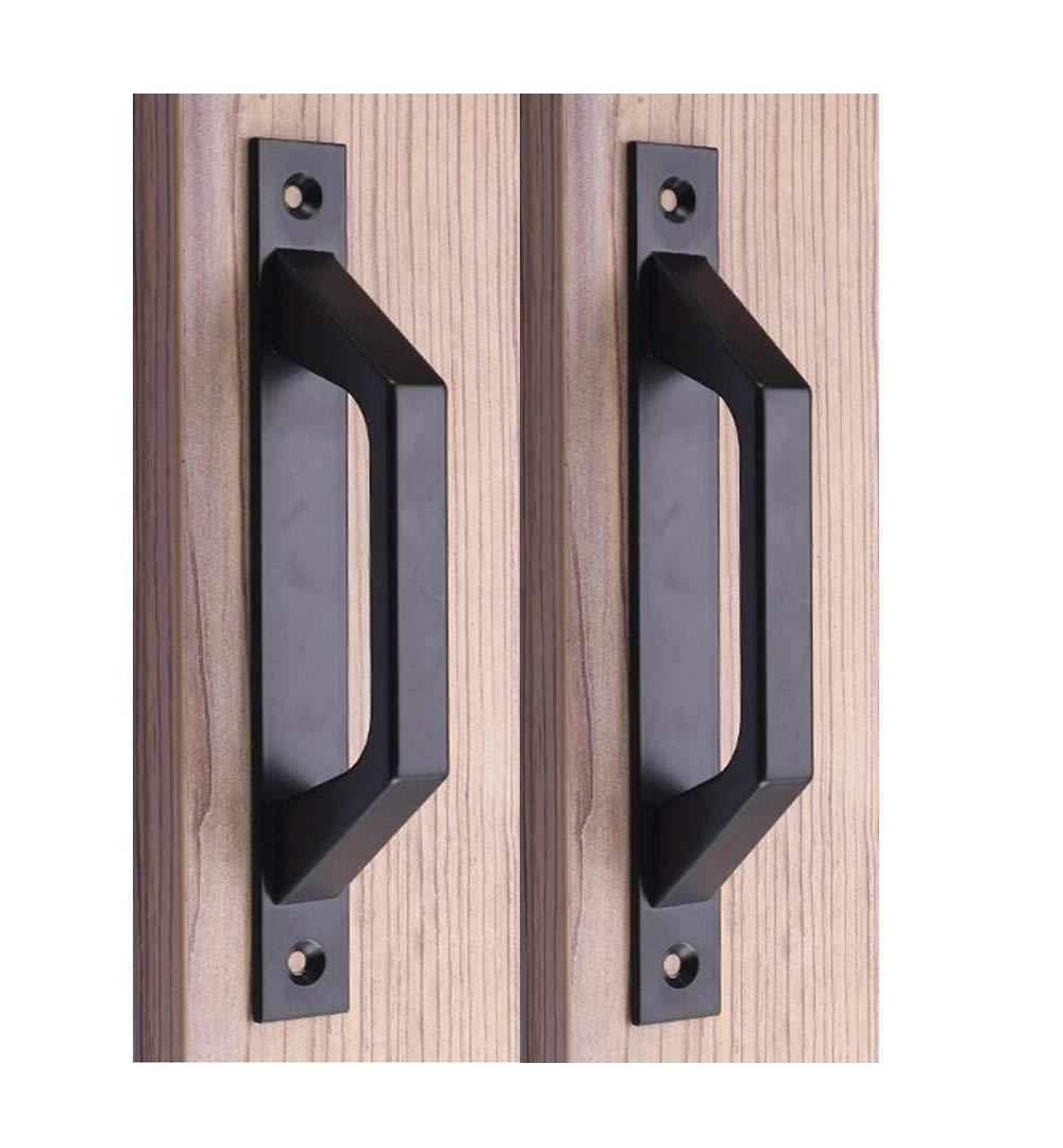 Carbon Steel Sliding Barn Door Handle Wood Gate Door Pull Handle 19.6cm