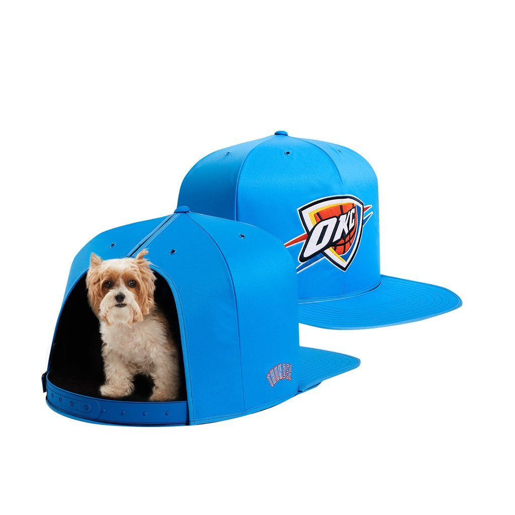 NAP CAP NBA Oklahoma City Thunder Team Indoor Pet Bed, Blue (Small)
