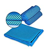 Cooling Towel - Vitalismo Microfiber Sport Towels Super Absorbent Headband Travel Towel for Golf Gym Fitness Exercise Outdoors (Blue)