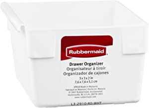 Rubbermaid Fg2910Rdwht Organizer Drawer
