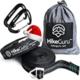 The only way to hang your hammock! HikeGuru Suspension Straps are the NEWEST innovation on the market when talking about Safety and Relaxation in nature.Afraid you will fall from your hammock and hurt your back?Tired of trying to find the perfect dis...