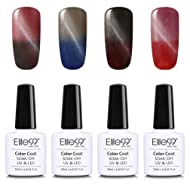Elite99 Temperature Color Changing Cat Eye Gel Nail Polish UV LED Soak Off 4 Colors Manicure Nail Art Decoration 10ml (005)