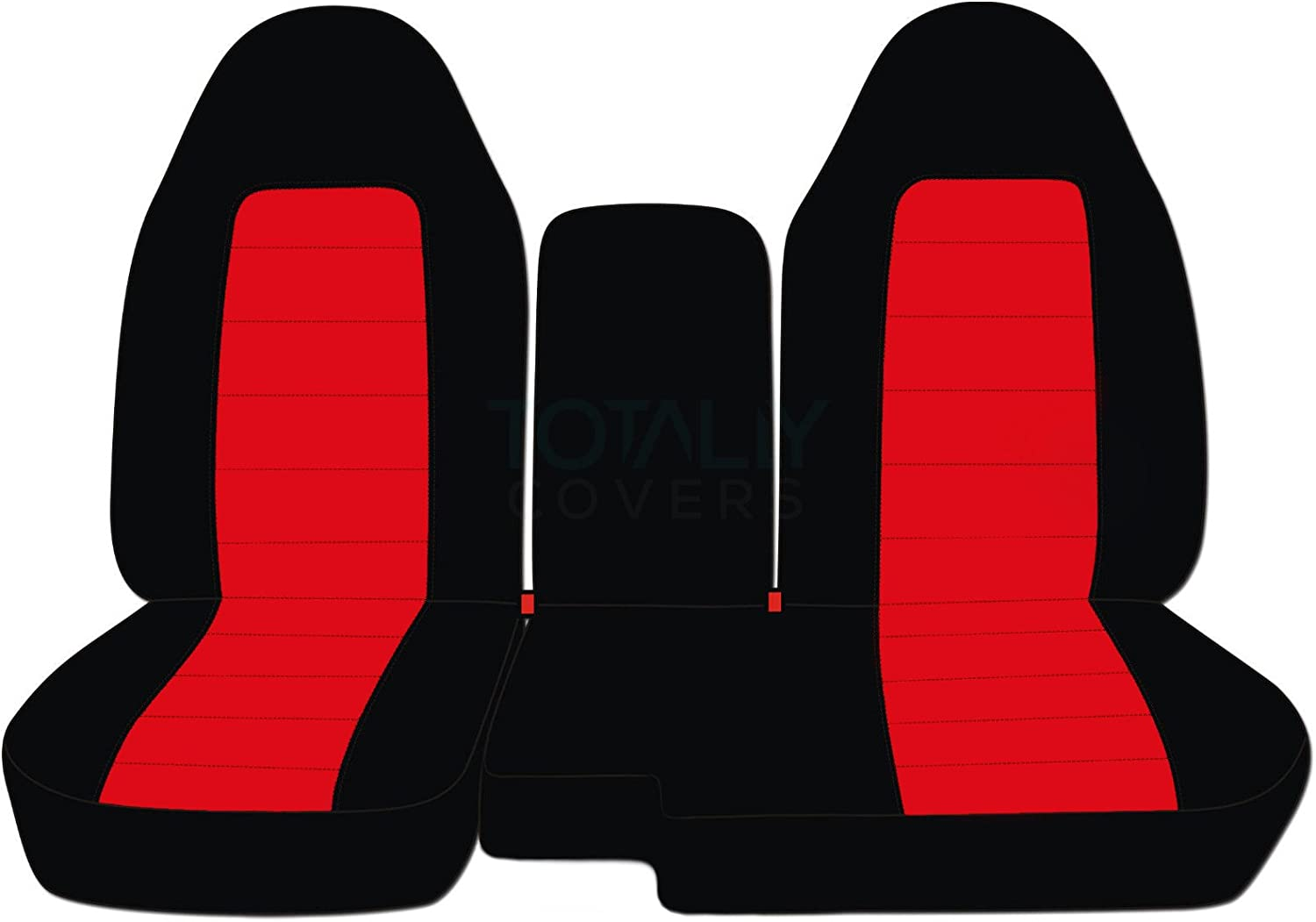 Totally Covers Compatible with 2004-2012 Ford Ranger//Mazda B-Series Two-Tone Truck Seat Covers 60//40 Split Bench w Center Console//Armrest Cover: Black /& Cute Pink 21 Colors