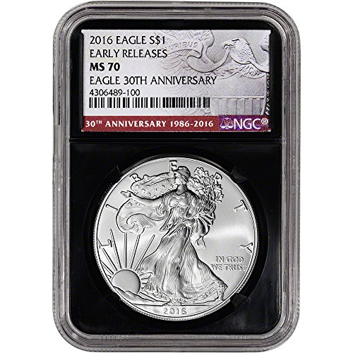 2016 American Silver Eagle (1 oz) Early Releases Retro Holder $1 MS70 NGC