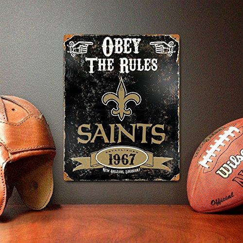 New Orleans Saints Home Decor: Party Animal NFL Embossed Metal Vintage New Orleans Saints