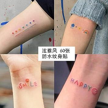 Pegatinas de tatuaje permanentes 1 año lindas pegatinas frescas ...