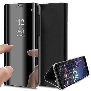 HMTECH Sony Xperia XZ Funda Espejo Mirror Cuero de PU Bookstyle ...