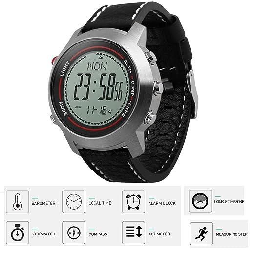 MCJL Reloj Digital Mens Fitness Tracker 30m Impermeable podómetro ...