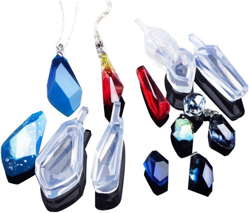 DIY Silicone Mold Resin Jewelry Making Epoxy Pendant Mould Gemstone Mold Kit