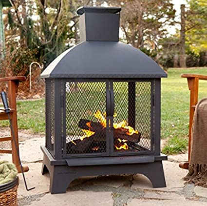 amazon com by outdoor design wood burning fireplace stainless rh amazon com