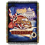"NFL Washington Redskins Home Field Advantage Woven Tapestry Throw, 48"" x 60"""