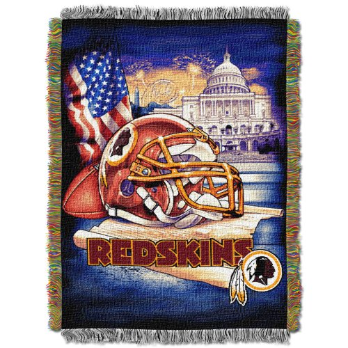 NFL Washington Redskins Home Field Advantage Woven Tapestry Throw, 48