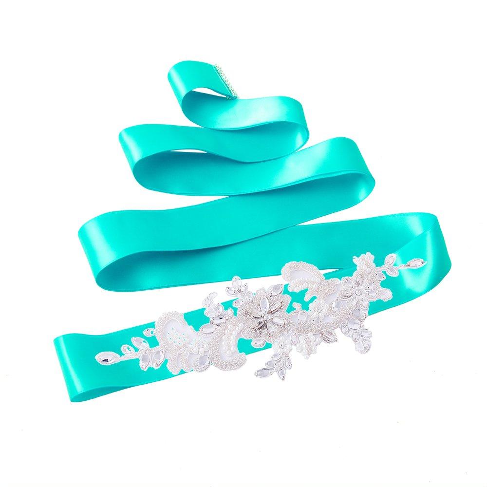 Azaleas Womens Crystal Bridal Sash Belts Wedding Belt Sashes for Wedding