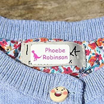 Stick 'n Wash No-Iron Self Adhesive Name Labels to go in Clothing or on Property (60 Labels)