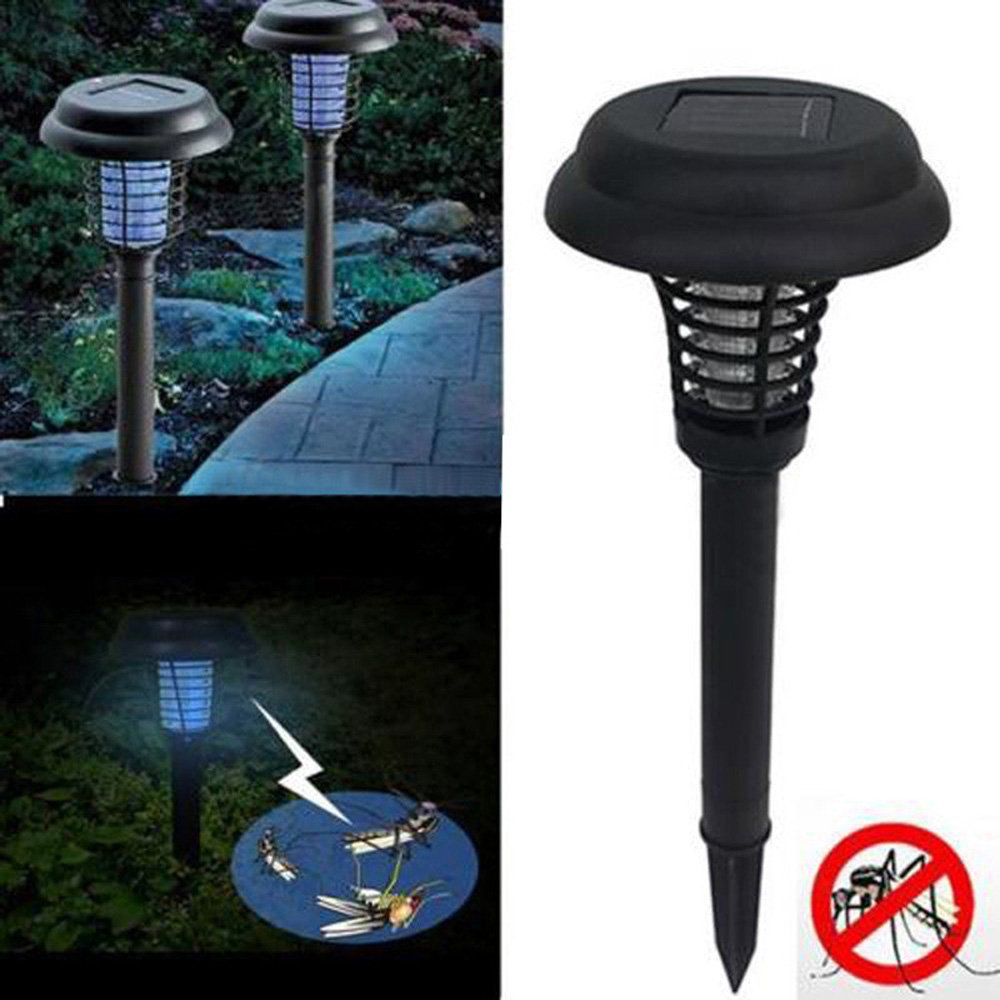 Solar Powered Outdoor mosquito killer lamp Mosquito Repellent Bug Insect Killer Trap Night Lamp Zapper 11.5*32cm China 104389