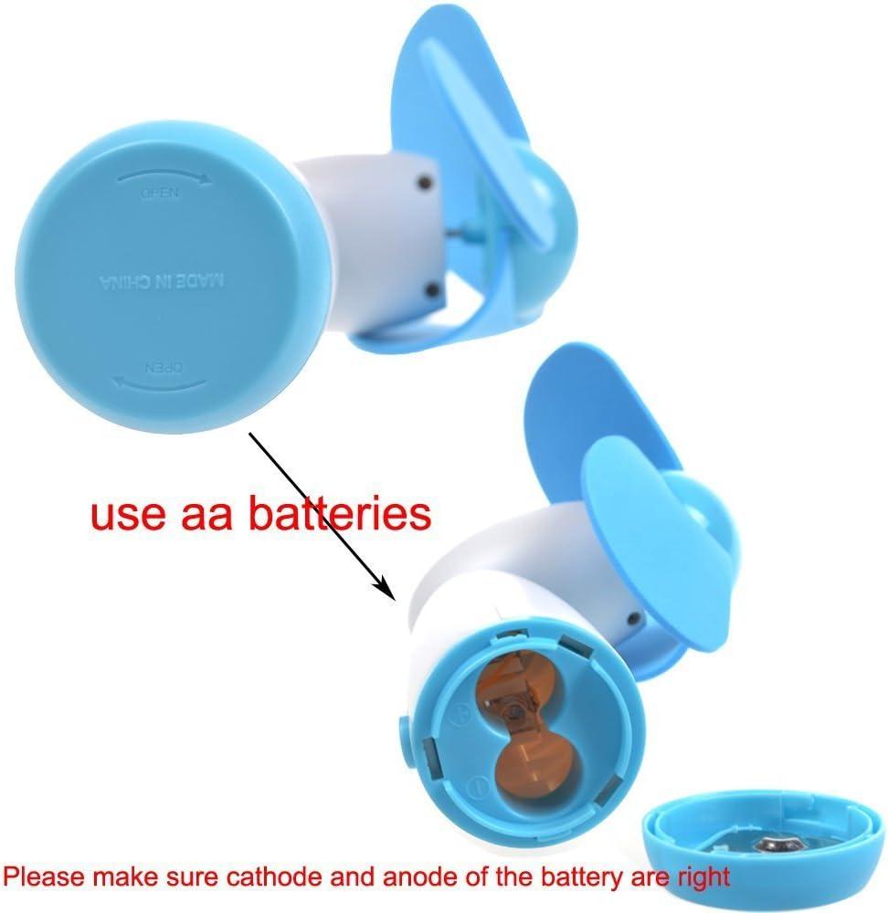 CAOLATOR Mini Portable Poche Ventilateur Batterie Powered Soft Mousse Lames Rose