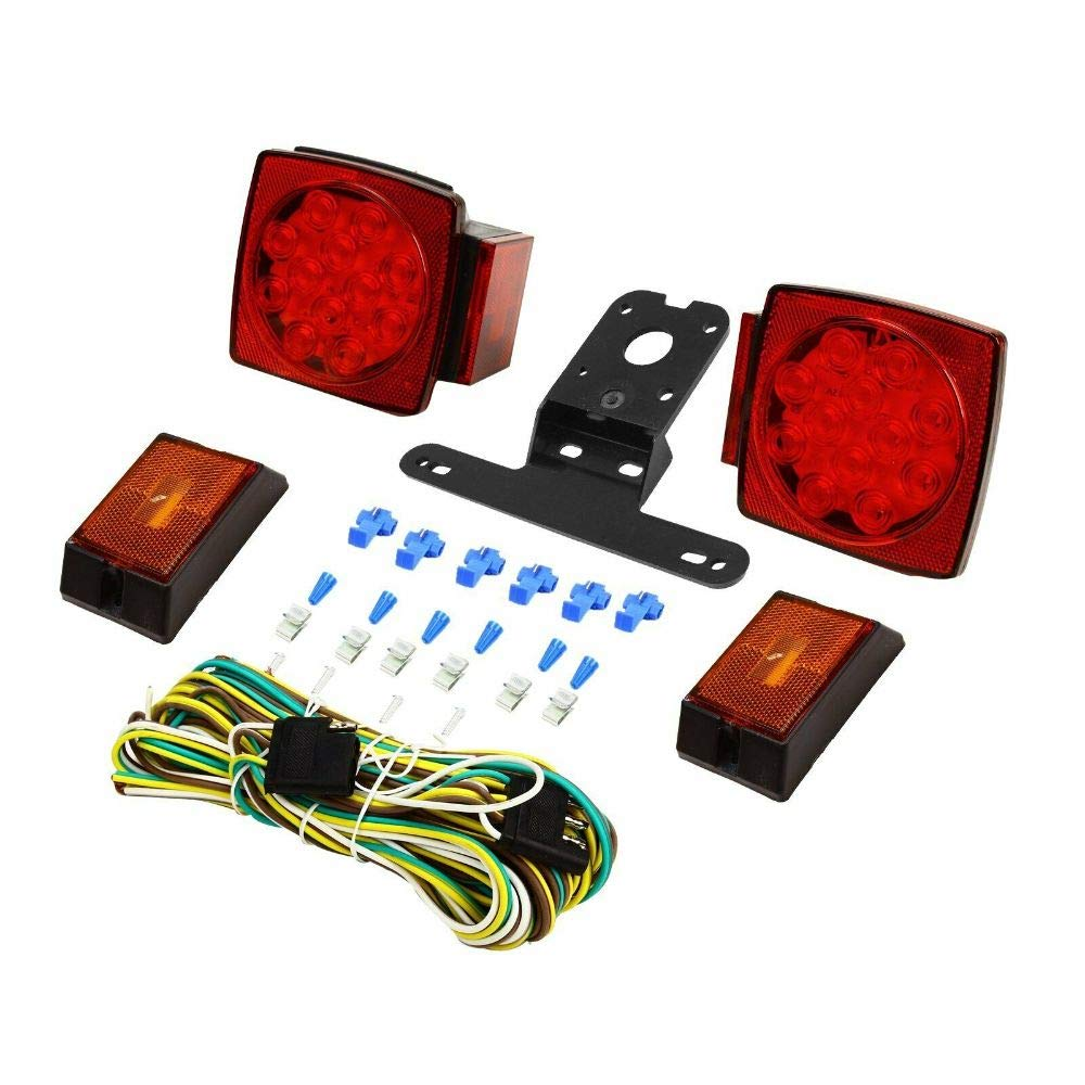Rear Led Submersible Trailer Tail Lights Kit Boat Marker Truck Waterproof Round by Unknown