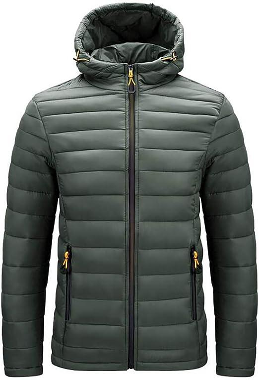 Huicai 男性 カジュアル 秋、冬 軽量 暖かい 長袖 コート アウトドア 防風 ジャケット