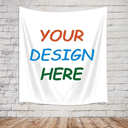 KOTOM Personalized Customize Image Tapestry Wall Hanging for Living Room Bedroom Dorm Decor 90 LX70 W