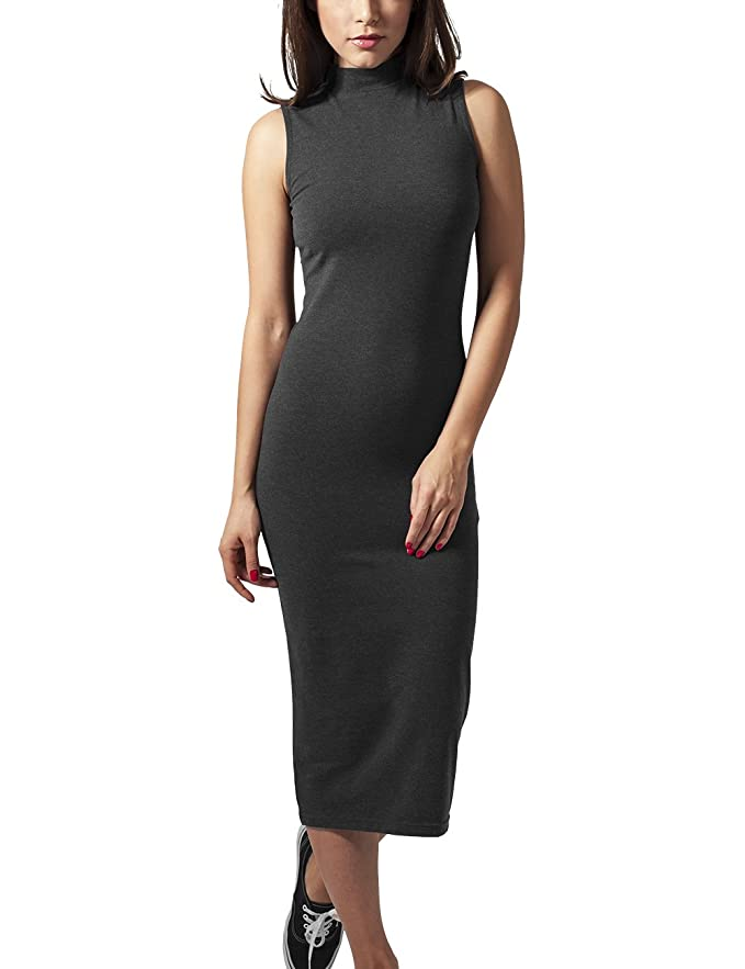 Urban Classics Ladies Stretch Jersey Turtleneck Dress Vestido para Mujer
