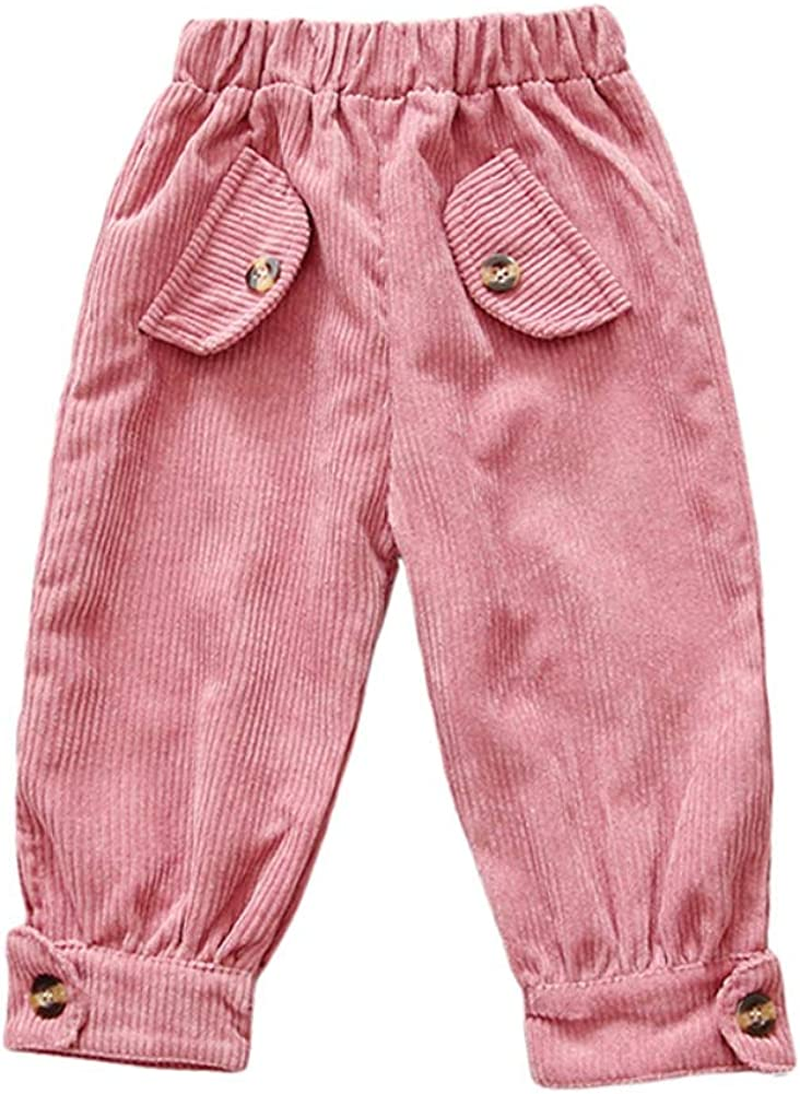 Gyratedream Kids Corduroy Pants Wild Loose Trousers