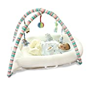 Aik@ Portable Multifunctional Co-Sleeping Cribs,Cotton Baby Travel Bed Hypoallergenic Breathable Non-Toxic Soft Suitable for 0-3years-White