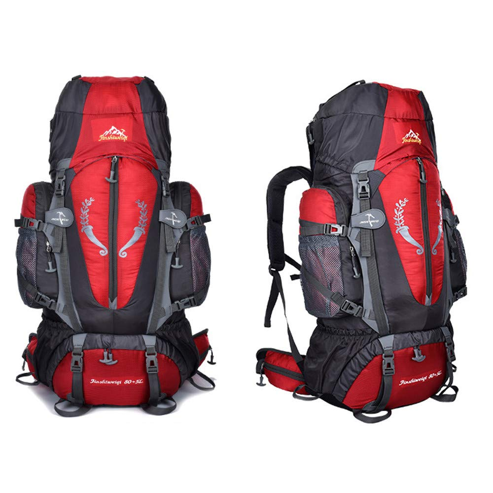 XGao Camping 85L Mountaineering Backpack Bag Hiking Outdoor Travel Rucksack Bags New (Red) by XGao