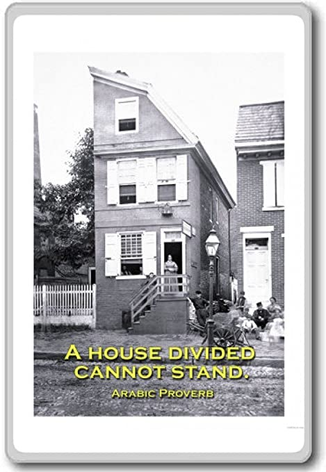 A House Divided Cannot Stand (Arabic Proverb) - motivational inspirational quotes fridge magnet -