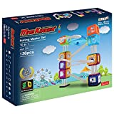 RollingBall Rolling master Set 138 pcs - Educational Magnetic Buliding 2D and 3D Blocks for Brain Training, Construction Toys with Guidebook for Kids, Children