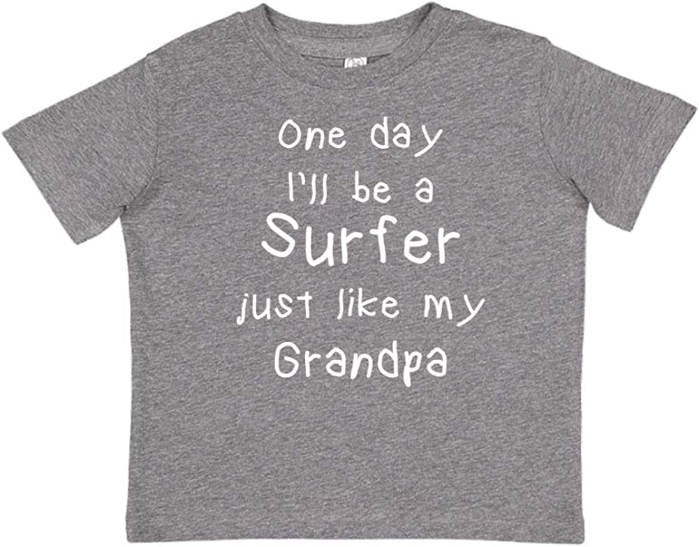 Toddler//Kids Short Sleeve T-Shirt One Day Ill Be A Surfer Just Like My Grandpa