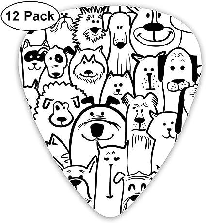 Cabeza envuelta en toallas de baño Cat 12 Pack Púas de guitarra, guitarras eléctricas y acústicas: Amazon.es: Instrumentos musicales